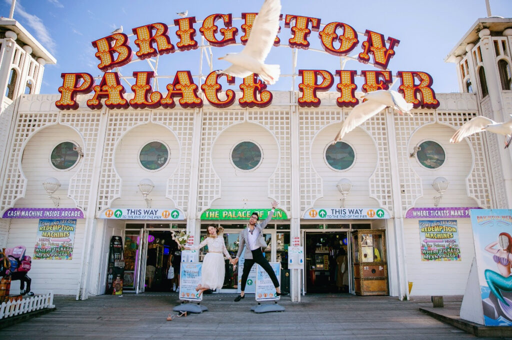 Photo of the entrance to Palace Pier in Brighton